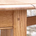 Gate leg table in quarter-sawn oak detail
