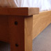 King size bed in oak