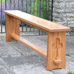 Dining bench of reclaimed pitch pine